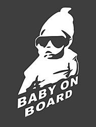 23 X 14 CM/ Cool Baby on Board Car Sticker Motorcycle Sticker