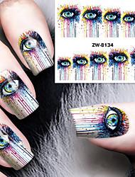 billige -1 pcs Vandoverførings klistermærke Negle kunst Manicure Pedicure Mode Daglig