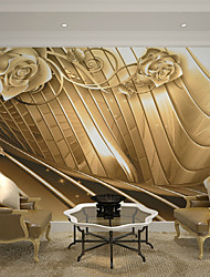 cheap -Art Deco 3D Home Decoration Luxury Wall Covering, Canvas Material Adhesive required Mural, Room Wallcovering