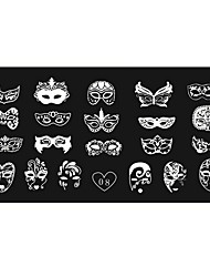 cheap -Women's Nail Art Manicure Template Image Stamp Stamping Plates DIY Decors12x6CM 08#