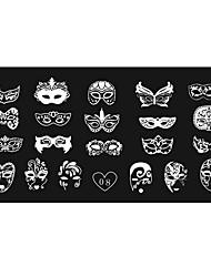 preiswerte -Frauennagelkunstmaniküreschablonenbild stempel stempeln Platten diy decors12x6cm 08 #