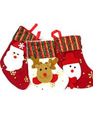 Cadeaux de noël Articles pour Célébrer Noël Sacs à cadeau Jouets Chaussettes 3 Pièces Noël Cadeau