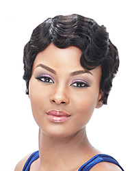 cheap -Synthetic Wig Wavy / Afro Synthetic Hair African American Wig Black Wig Women's Short Natural Wigs / Halloween Wig / Carnival Wig Capless