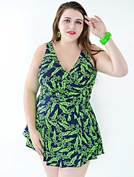 cheap -High Quality Plus Size Women One Pieces Swimwear Free Wire 4 Colors Swimsuit