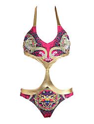 abordables -Mujer Monokini - Estampado, Cachemir Halter / Relleno