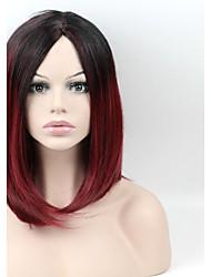 billige -Syntetiske parykker Lige Syntetisk hår Rød Paryk Dame Kort Lågløs
