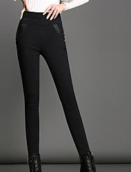 Women's Polyester Solid Color Legging,Solid This Style is TRUE to SIZE.