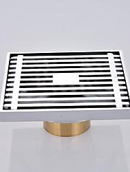 abordables -Accessoire de robinet - Qualité supérieure - Moderne Laiton Drain de plancher - terminer - Chrome