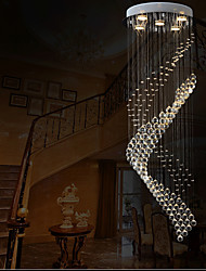 "cheap -Modern Spiral Clear Crystal chandelier Pendant Lights Ceiling Lamps Lighting Fixtures with D15.75"" H47.24"""