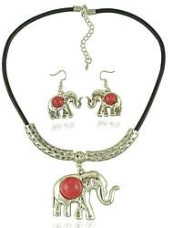 levne -Dámské Slon Šperky Set 1 x náhrdelník / 1 x pár náušnic - Euramerican / Módní Černá / Červená Náhrdelník / náušnice Pro Svatební / Výročí