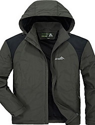 Men's Hiking Softshell Jacket Outdoor Winter Waterproof Thermal / Warm Windproof Insulated Comfortable Top Camping / Hiking Snowsports