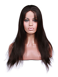 cheap -Premierwigs 8''-26'' Natural Straight Brazilian Virgin Glueless Full Lace Human Hair Wigs Glueless Lace Front Wigs 8A