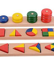 Недорогие -Обучающие игрушки Монтессори Конструкторы Обучающая игрушка Игрушки Квадратный Круглый Образование Оригинальные Дерево Девочки Мальчики 1