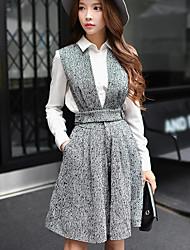 delle donne dabuwawa solido grigio allentato / bootcut / largo pantskirts gamba, annata / punk& gothic / sofisticato