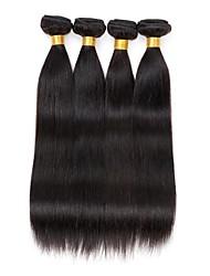 cheap -4 bundles Brazilian  Straight Human Hair Weave Extensions 400g