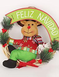 baratos -Decorações Natalinas Fantasias de Natal Brinquedos de Natal Almofadas Brinquedos Elk Boneco de neve Artigos de mobiliário Madeira Peças