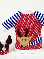 abordables -Déco de Fête Décorations de Noël Articles pour Célébrer Noël Jouets Elk 3D Textile 2 Pièces