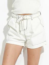 preiswerte -Damen Freizeit Mikro-elastisch Jeans Hose, Baumwolle Sommer Solide