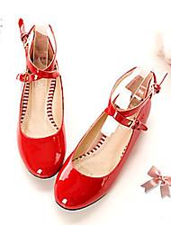 baratos -Feminino Sapatos Courino Primavera Verão Outono Sem Salto para Casual Branco Preto Vermelho Rosa claro