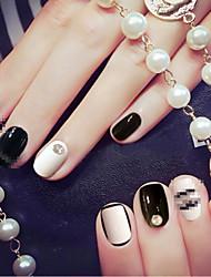 24 morceaux de fini ongles ongles artificiels d'impression couleur bandes de la mariée l'artisanat morceau nail art