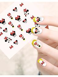 1 Sanat Sticker Nail Su Transfer Etiketi Karikatür Sevimli Makyaj Kozmetik Sanat Tasarım Nail