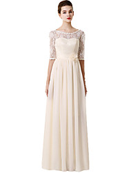 cheap -Floor-length Chiffon / Lace Mix & Match Sets Bridesmaid Dress - A-line Sweetheart withAppliques / Bow(s) / Flower(s) / Lace / Pearl
