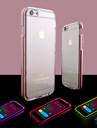 For iPhone 8 iPhone 8 Plus iPhone 6 iPhone 6 Plus Case Cover LED Flash Lighting Transparent Back Cover Case Solid Color Soft TPU for