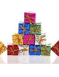 12pc / boîtier décoration fournitures de parti mariage de vacances de cadeau de noël arbre de noël suspendus colorés ornent couleurs
