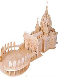 Puzzles Puzzles en bois Building Blocks DIY Toys Sphère Chasseur Bâtiment Célèbre Eglise 1 Bois Ivoire Maquette & Jeu de Construction