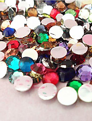 cheap -5000PCS Mixs Color Flatback Resin Gems 3mm Handmade DIY Craft Material/Clothing Accessories