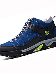 Hiking Shoes Men's Athletic Shoes Winter Comfort PU Outdoor Athletic Flat Heel Lace-up Black Blue Gray