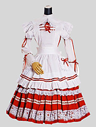 Doux Rococo Femme Une Pièce Robes Cosplay Manches Longues