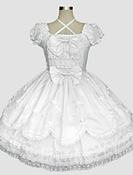cheap -Sweet Lolita Dress Rococo Women's One Piece Dress Cosplay Short Sleeves