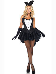 Cosplay Costumes Party Costume Bunny Girls Career Costumes Movie Cosplay Black Dress Gloves Headwear Halloween Carnival Female Polyester