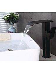 Moderne Set de centre Jet pluie with  Soupape céramique Mitigeur un trou for  Bronze antique , Robinet de baignoire