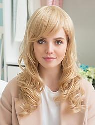 frangetta parziali eleganti lunga parrucca riccia capelli glamour capelli umani prevalenti