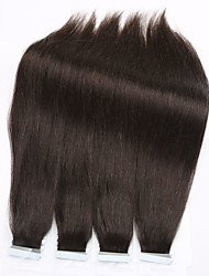 cheap -Tape In Human Hair Extensions Human Hair Straight 20 Strands/Pack 16 inch 18 inch 20 inch 22 inch 24 inch