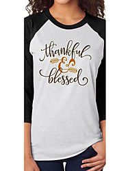AliExpress ebay explosion models Thanksgiving blessings arrow printed casual t-shirt