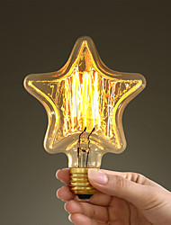 40w e27 style retro industry incandescent incandescent star-shaped bulb