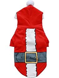 Pes mikiny Oblečení pro psy Roztomilé Módní Vánoce Postavy Červená