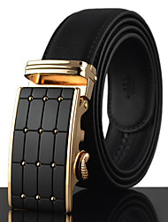 cheap -Men's Gold / Silver Automatic Buckle Waist Belt Work/Casual Alloy/Leather All Seasons