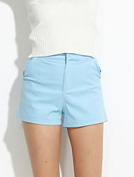 preiswerte -Damen Freizeit Mikro-elastisch Jeans Hose, Polyester Sommer Solide