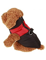 cheap -Dog Coat Vest Dog Clothes Keep Warm Solid Red Green Blue Pink Costume For Pets
