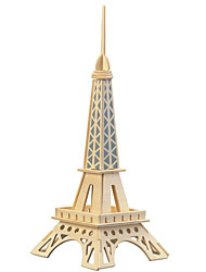 cheap -Jigsaw Puzzles Wooden Puzzles Building Blocks DIY Toys Small Paris Eiffel Tower (Light Blue)1 Wood Ivory Model & Building Toy