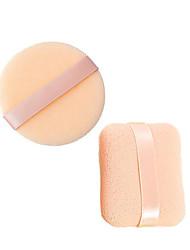 1PCS Plein & 1PCS Ronde 6cm gezicht, Sponge make-up Cosmetische Powder Puff