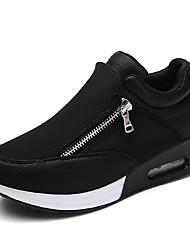 Da donna-scarpe da ginnastica-Tempo libero Casual Sportivo-Plateau Comoda-Plateau-Finta pelle-Nero Rosso Grigio