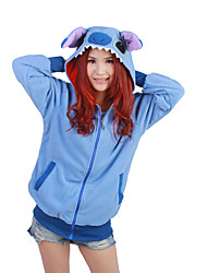 economico -Pigiama Kigurumi Blue Monster Pigiama intero Pigiami Costume Pile Blu Cosplay Per Per adulto Pigiama a fantasia animaletto cartone animato