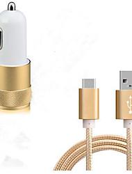 Presa EU Caricatore del telefono del telefono Kit caricabatterie Multi-porte 100 cm Punti vendita 2 porte USB 3.1A DC 12V-24V