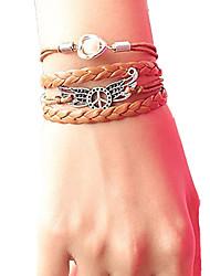 Недорогие -женский мир крыло жемчуг плетеный браслет вдохновляющие браслеты ювелирные изделия