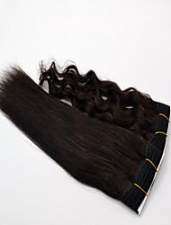 "1Pcs Lot 10""-30"" Indian Virgin Hair Wet & Wavy Natural Black Human Hair Weaves/Hair Weaving"